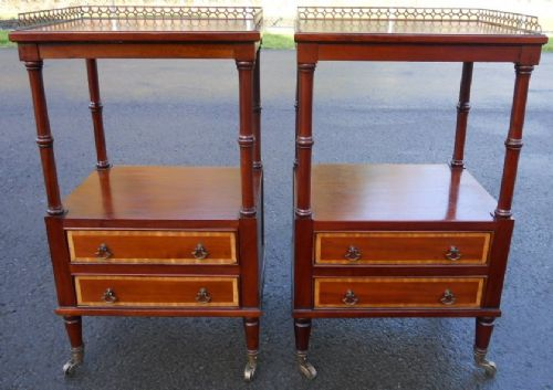 Pair Mahogany Lamp Table Stands